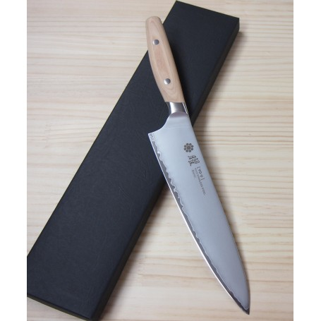 Japanese Chef Gyuto Knife - YAXELL - VG-10 steel - YO-U Bianco Serie - Size: 21cm