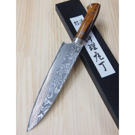 Japanese Gyuto Knife - TAKESHI SAJI - Nickel Damascus VG-10 Steel - Ironwood Handle - Size: 21cm