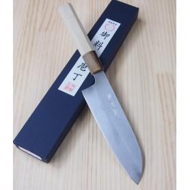 Japanese Santoku Knife - MIURA - Carbon White 2 Serie - Size: 17cm
