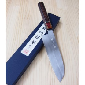 Faca japonesa santoku MIURA -Série Carbon white 2 customizado- Tam:17cm