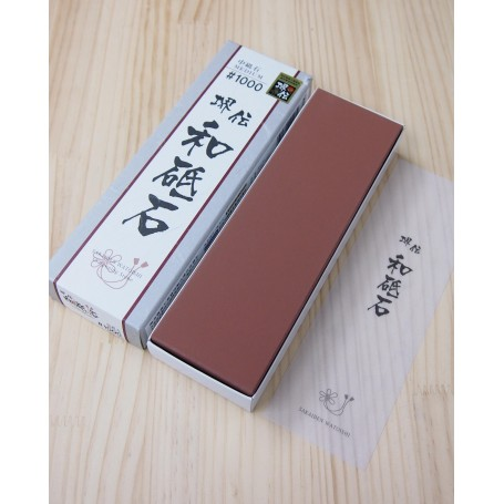 Whetstone Knife Sharpener - Grit 1.000 - NANIWA - Sakaiden Watoishi Serie