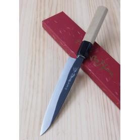 Faca japonesa petty YOSHIHIRO Kurouchi white steel tam:15cm