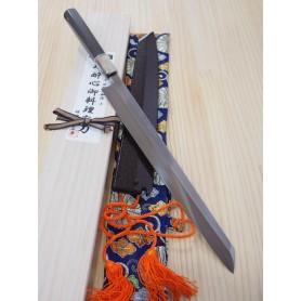 Japanese Kengata Yanagiba Knife - SUISIN - Honyaki - Special Shiro 1 Serie - Size: 30cm