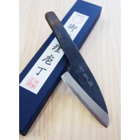 Japanese Hamoshime Knife - SAKAI KIKUMORI - White Steel (Shirogami) - Size: 9,5cm