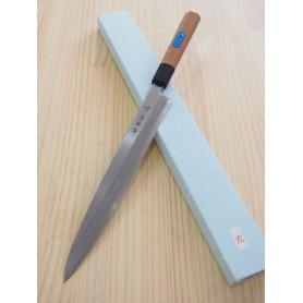 Japanese Yanagiba Knife for left-handed - SAKAI TAKAYUKI - PC Serie - Antibacterial Handle (Brown Color) - Sizes: 27 / 30 cm
