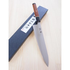 Faca japonesa do chef wagyuto SUISIN Swedish stainless honyaki Karin handle-Tam:24cm