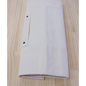 Case de lona para facas - 68x45cm Branco Cap.6 facas