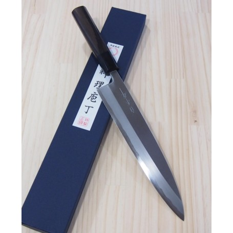 Japanese Chef Gyuto Knife for right-handed - SHIRAKI - Blue Steel No.1 - Size: 24cm