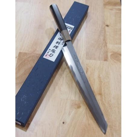 Japanese Kengata Yanagiba Knife - SUISIN - Blue Steel Damascus by Kenji Togashi - Sizes: 27 / 30cm