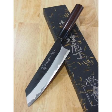 Japanese Bunka Knife - YOSHIMI KATO - Aogami Super Serie - Black Finish - Size: 17cm