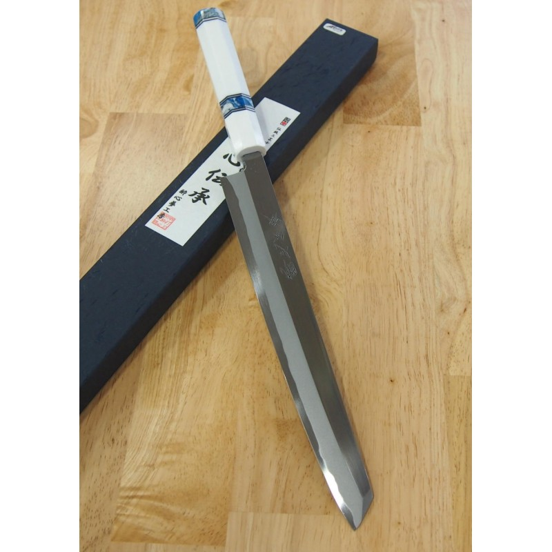 Faca japonesa kengata yanagiba SUISIN - Série Especial Densho - Custom handle - tam: 27cm