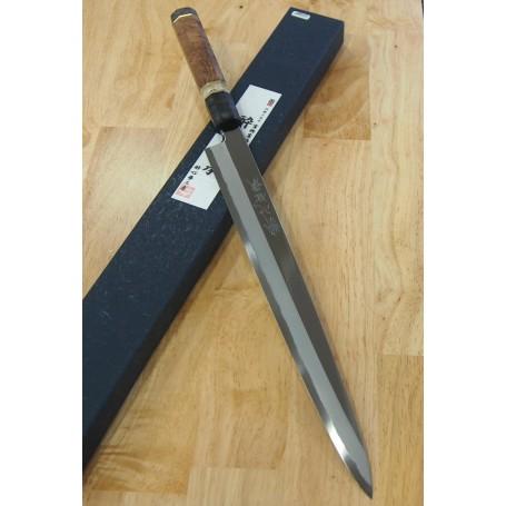 Japanese Yanagiba Knife - SUISIN - Densho Special Serie - Customized Handle - Size: 33cm