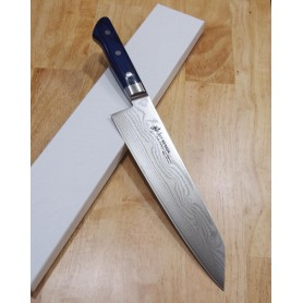 Faca japonesa do chef kengata gyuto SUISIN Damascus VG-10 Limited Edition Tam:22,5cm
