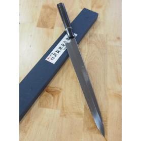 Japanese Yanagiba Knife - SUISIN - Fuji Moon Honyaki - Shirogami 1 by Kenji Togashi - Size: 33cm