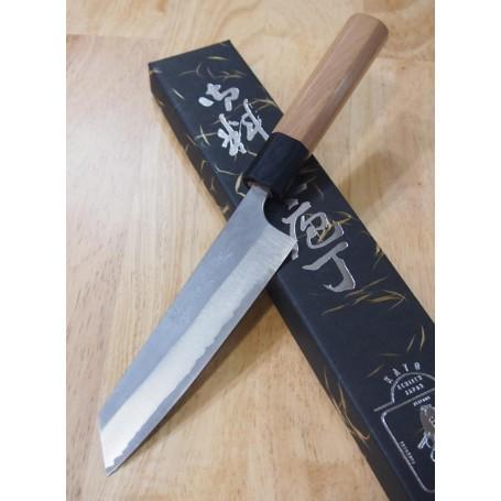 Japanese Kobunka Knife - YOSHIMI KATO - Super Aogami Nashiji Serie - Size: 13,5cm