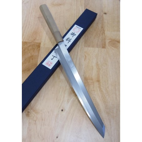 Japanese Kengata Yanagiba Knife - MIURA - Obidama Serie - Sizes: 27 / 30cm