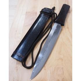 Kennata TAKESHI SAJI White steel damascus Tam:29cm